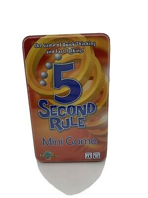 AU17.95 • Buy 5 Second Rule Tinned Game - University Games. Brand New. Sealed