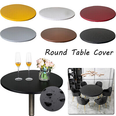 £9.99 • Buy Round Table Cover Protector Tablecloth Waterproof Table Cover With Elastic Edged