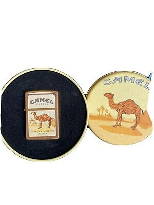 £170 • Buy 1994 Solid Brass Camel Zippo Lighter In Tin Turkish &Domestic Blend Very Rare.