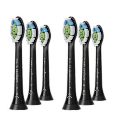 AU50.99 • Buy Genuine Philips Sonicare Replacement Electric Toothbrush Heads 6pk Black