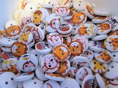 £3.75 • Buy 15mm Wildlife Animal Buttons In Packs Of 10, 20, 50 Or 100 Assorted Animals