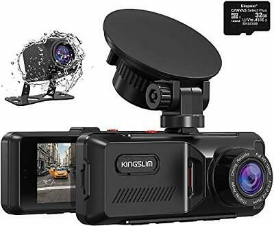 AU116.80 • Buy Kingslim Dash Cam With GPS, 1080P Front And Rear Dual Dash Camera For Cars,