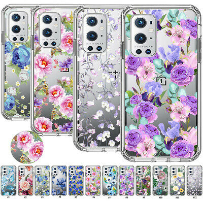 AU7.26 • Buy For OnePlus 9 8 7 Pro Nord N10 N100 Flower Case Transparent TPU Slim Fit Cover