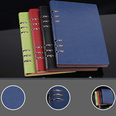 AU16.70 • Buy A5 Classic Refillable Notebook Loose Pocket Leather 6 Holes Ring Binder 11 Color