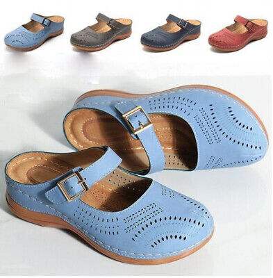 £13.99 • Buy Womens Orthopedic Slippers Ladies Slip On Comfy Mules Summer Sandals Shoes Size