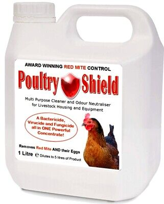 £14.50 • Buy Genuine  Poultry Shield 1LTR Multi Purpose Cleaner Fungicide Concent /red Mite