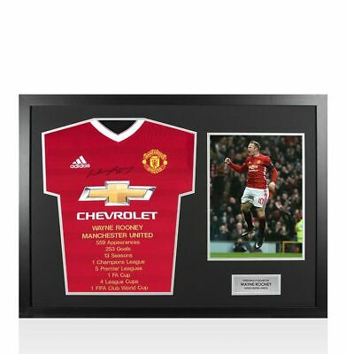 £379.99 • Buy Framed Wayne Rooney Front Signed Manchester United Shirt - Career Special Editio