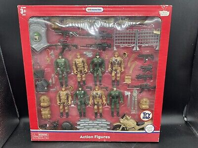 $36.89 • Buy RARE Kid Connection 8 Poseable – MILITARY Action Figures Play Set NEW Complete