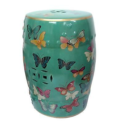 £107 • Buy Chinese Ceramic Stool / Plant Stand - Butterflies Pattern