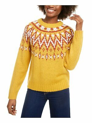 AU5.14 • Buy HOOKED UP Womens Yellow Printed Long Sleeve Crew Neck Top Size: XS