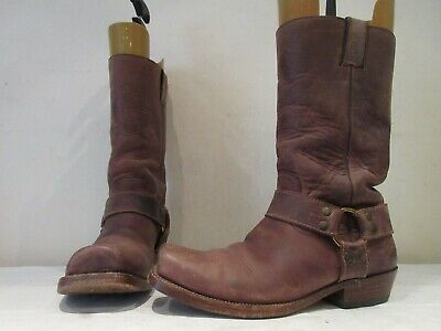 £80 • Buy Mens Sancho Brown Leather Ring O Harness Pull On Boots Uk 10 Eu 44 (3674)