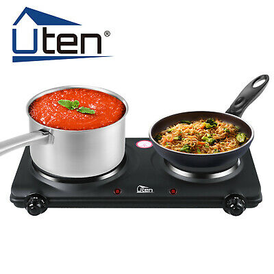 £26.99 • Buy Uten 2Hobs Induction Hot Plate Electric Burner 1Kw Portable Stove Kitchen Cooker