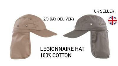 £7.95 • Buy Unisex Adult Legionnaire Khaki/Brown Summer Sun Hat .one Size Fits All,fast Post