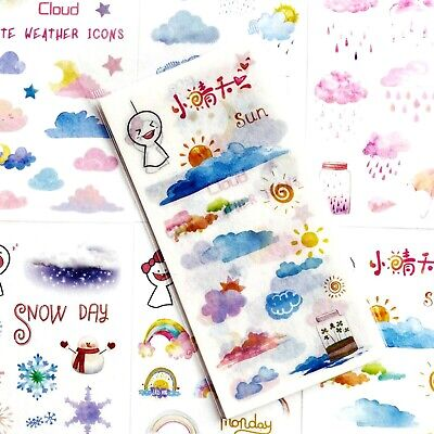 £2.89 • Buy CLOUD & RAINBOW STICKERS Weather Scrapbooking Journal Card Craft Decoration