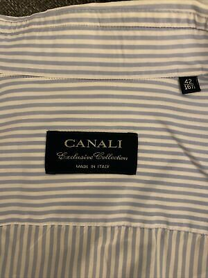 £9.10 • Buy Canali Mens Blue Shirt 16.5/42 Very James Bond. Good Condition