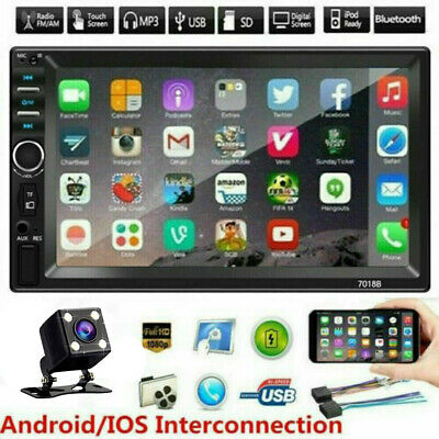 $66.99 • Buy 7  Double 2 DIN Car MP5 Player Bluetooth Touch Screen Stereo Radio W/ Camera