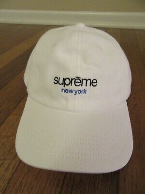 $ CDN109.17 • Buy Supreme Classic Logo 6-Panel Hat White SS21 Supreme New York 2021 Brand New DS