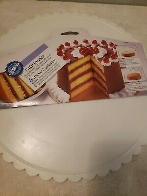 VINTAGE Wilton 10  Metal Cake Leveler, NEW! With Rotating Cake Decorating Stand • 5.72£
