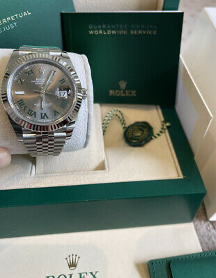 AU18359 • Buy New Unworn Rolex Datejust 41 126334 'Wimbledon' White Gold Bezel With AD Receipt