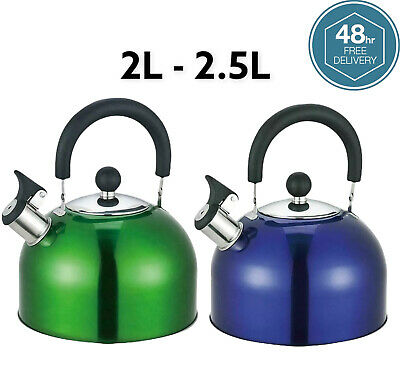 £11.99 • Buy 2l 2.5l Stainless Steel Whistling Kettle Stove Top Hob Camping Fishing Kettle