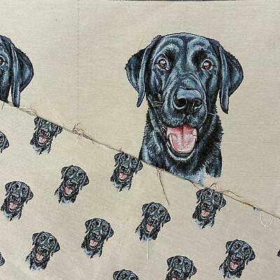 £4 • Buy Labrador Dog Panel, Colourful Cotton Linen Look Craft Fabric Upholstery Fabric