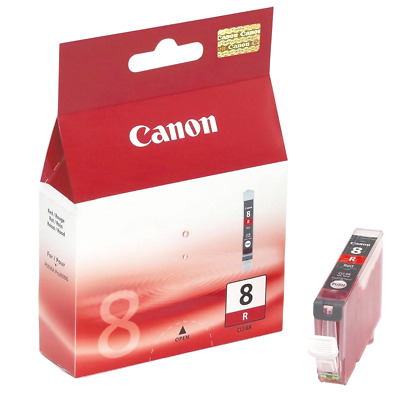 £11.85 • Buy Canon PIXMA CLI-8R Ink Cartridge – Photo Red NEW BOXED Genuine Authentic Pro9000