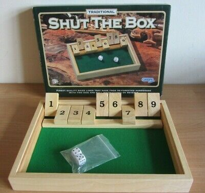 £5.99 • Buy Vintage SHUT THE BOX By Gibsons Games Traditional High Quality VGC Wooden