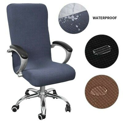 AU29.73 • Buy Elastic Swivel Computer Chair Cover Stretch Office Armchair Slipcover