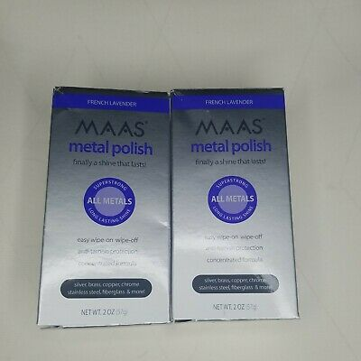 $39.99 • Buy (Lot Of 2) MAAS French Lavender All Metal Polish 2oz New In Box RARE
