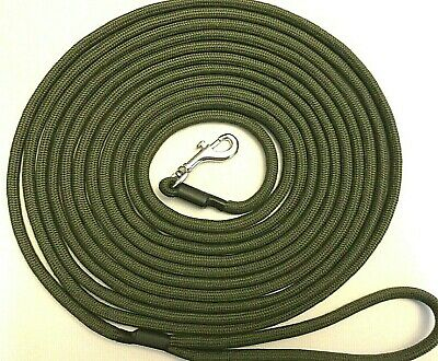 £8.99 • Buy HANDMADE 6 METRE LONG  **TRIGGER CLIP**  DOG LEAD 6 Mm For Recall And Steadying.