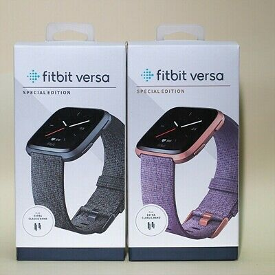 $ CDN112.52 • Buy Fitbit Versa Special Edition Smartwatch Fitness Activity Tracker With Woven Band