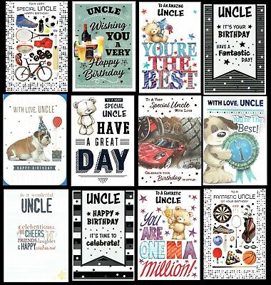 £1.20 • Buy UNCLE ~ QUALITY BIRTHDAY CARD Choice Of Design