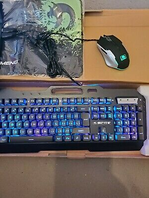 Gaming Keyboard + Gaming Mouse + Pad With Phone Stand For PC Laptop Computer • 9.99£