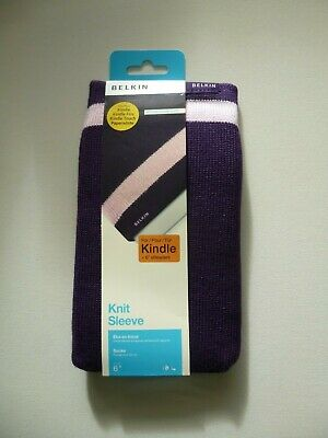 £5 • Buy Brand New Belkin Knit Sleeve Cover For Kindle Purple With Stripe BNWT