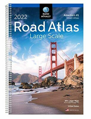 £18.10 • Buy 2022 Large Scale Road Atlas Rand McNally Large Scale Road Atlas USA Paperback