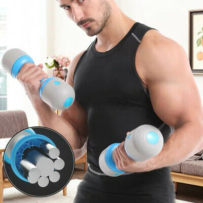 AU59.88 • Buy 1 Pair 5KG Adjustable Dumbbell Weight Metal Weight Block Set Fitness Exercise