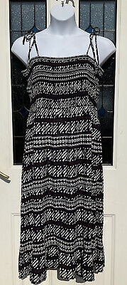 AU21.45 • Buy Next Navy Smocked Strappy Dress Size 20 New With Tags