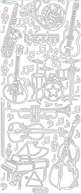 £1.55 • Buy MUSIC / MUSICAL INSTRUMENTS - Starform Peel Off Outline Stickers Ref 816