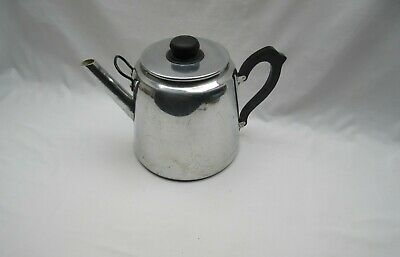 £19.50 • Buy Large Used Old Style Aluminium Metal Catering Village Hall Sized Teapot