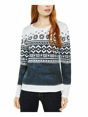 AU12.86 • Buy TOMMY HILFIGER Womens Navy Printed Long Sleeve Collared Blouse Size: L