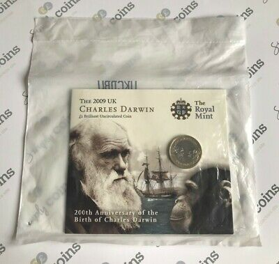 £59.50 • Buy ~Simply Coins~ 2009 CHARLES DARWIN TWO 2 POUND COIN ROYAL MINT PACK SEALED!