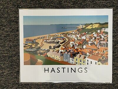 £9.99 • Buy Retro Contemporary Travel Poster Print Hastings 14 X 11 New