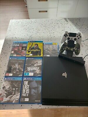 AU450 • Buy Sony Playstation 4 PS4 Pro Console 1TB Bundle W 7 Games + Dual Charger + Camera
