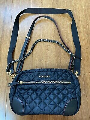 $200 • Buy MZ Wallace Black Small Crosby Crossbody With Gold Hardware