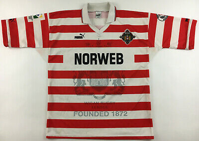 £39.99 • Buy Wigan Warriors 1995 1996 Norweb Rugby League Centenary Shirt Jersey Puma Vintage