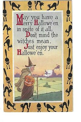 $ CDN12.09 • Buy 'Merry Halloween'' - Cool Gibson Card In Excellent Condition! NR
