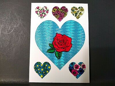 AU4.88 • Buy Vintage Stickers 80s Hearts Roses SELECTRA Prism Vending Machine Stickers RARE