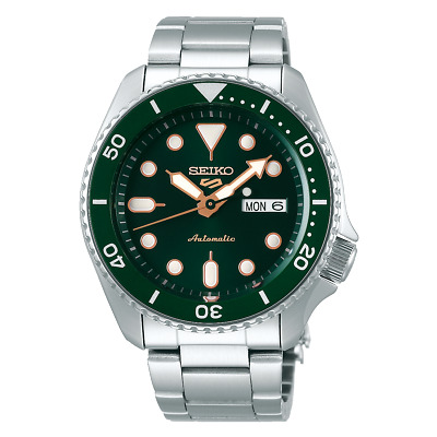$ CDN254.76 • Buy Seiko 5 Sports 42.5 Mm Automatic Stainless Steel Green Dial Watch - SRPD63K1