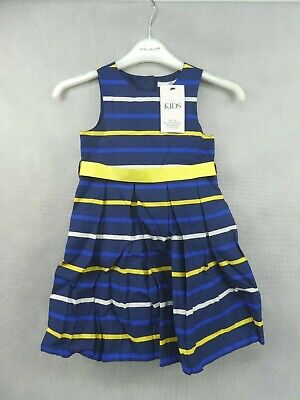 AU12.64 • Buy Marks & Spencer Kids Girl's Summer Dress Striped Size UK 4-5 Years New With Tags