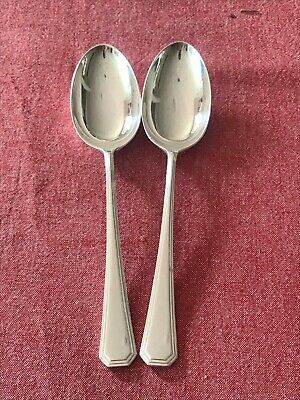 £9.99 • Buy Great Set Of 2 Silver Plated Mappin & Webb Athenian Serving Spoons 21.5cm